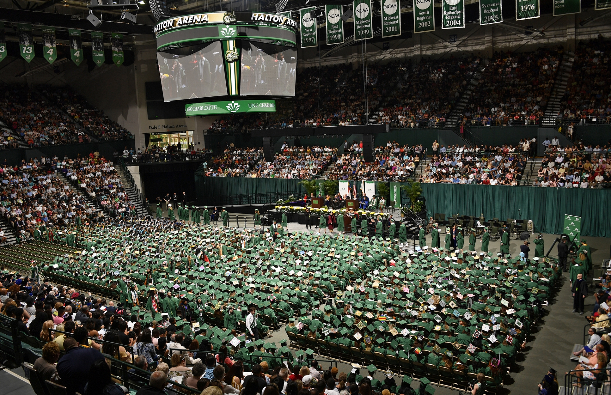 UNC Charlotte commencement at Dale F. Halton Arena